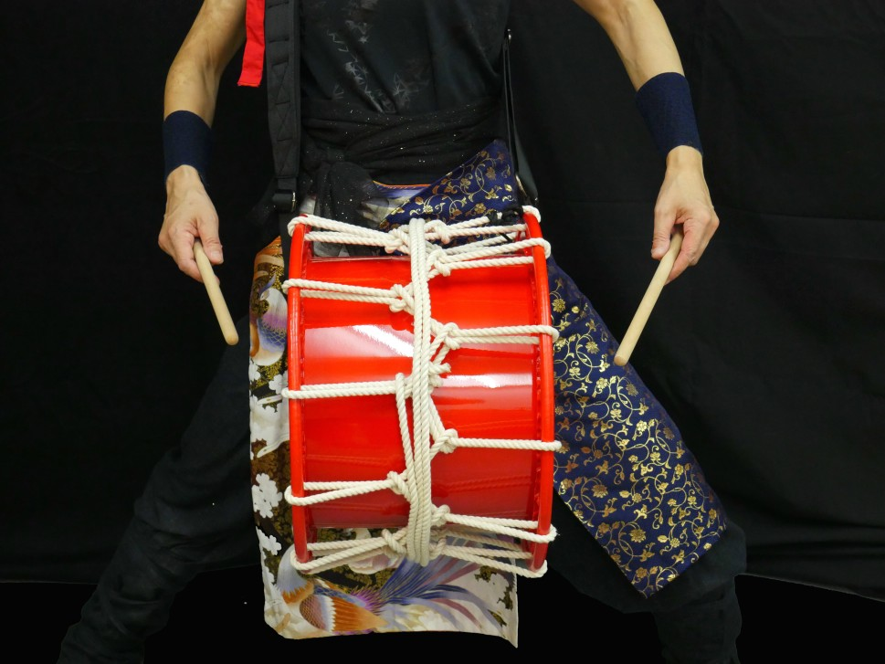 Dengaku-Daiko in shiny-red Ø39/h:25cm (350€) - New!