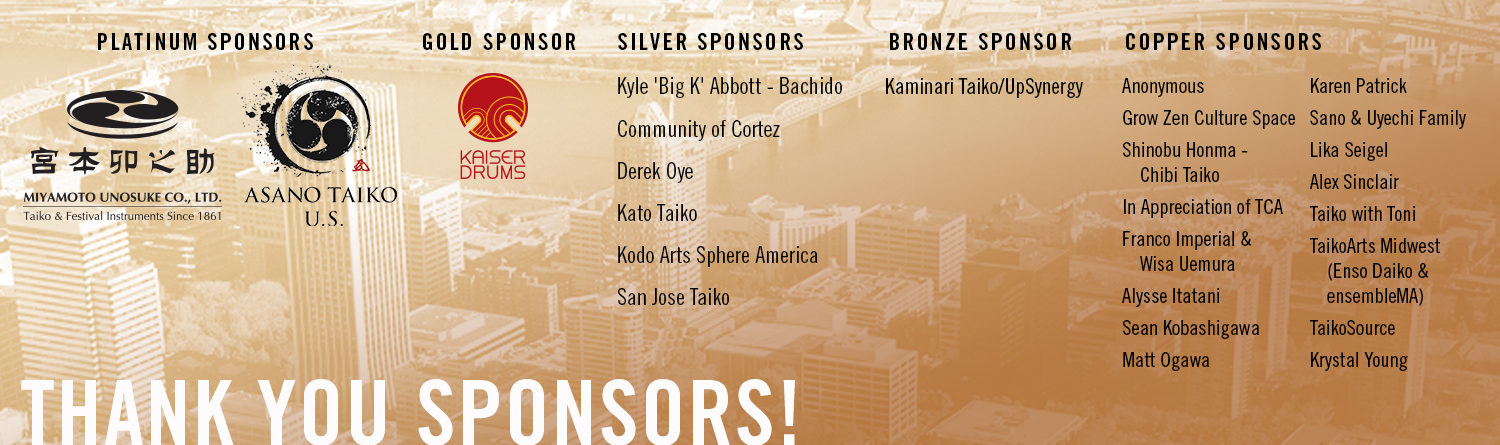 It`s our pleasure to support this year again the North American Taiko Conference 2019 in Portland/Oregon as a GOLD SPONSOR!